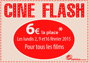 Ticket Flash 6� cin�ma avignon Capitole Studios