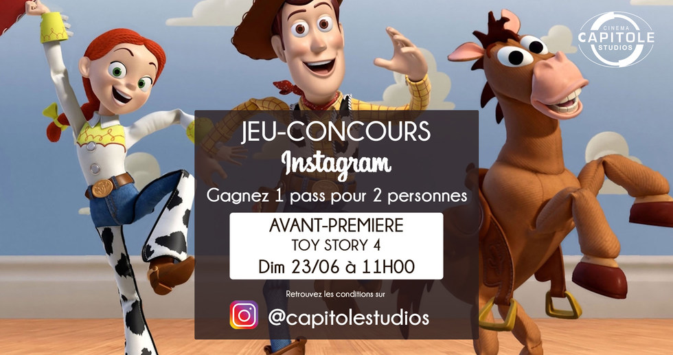 JEU CONCOURS TOY STORY 4